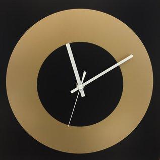 ChantalBrandO Wandklok ChantalBrandO Black & Gold Modern DUTCH Design