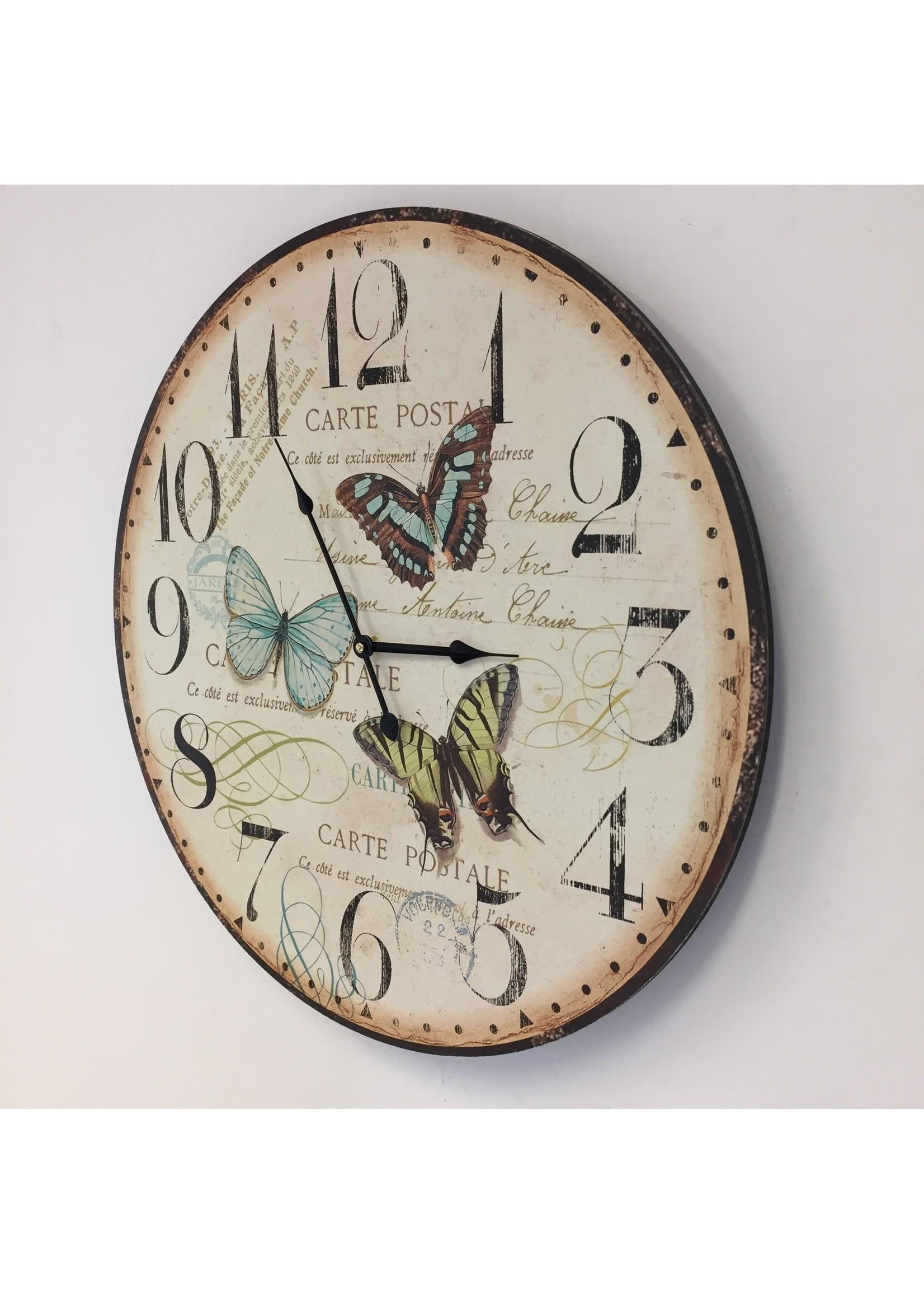 Wandklok Butterflies Modern Design