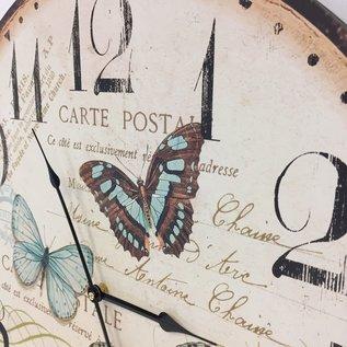Saramax Wandklok Butterflies Modern Design