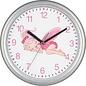 Saramax Kinder wandklok elfje Roze
