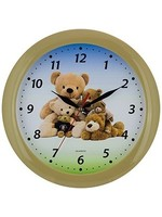 Kinder wandklok teddy