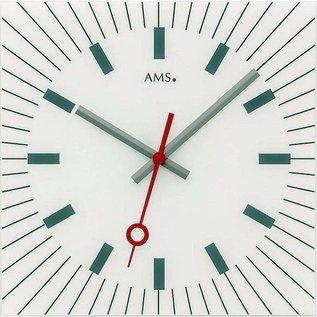 AMS AMS wandklok CARRE BLANC modern design