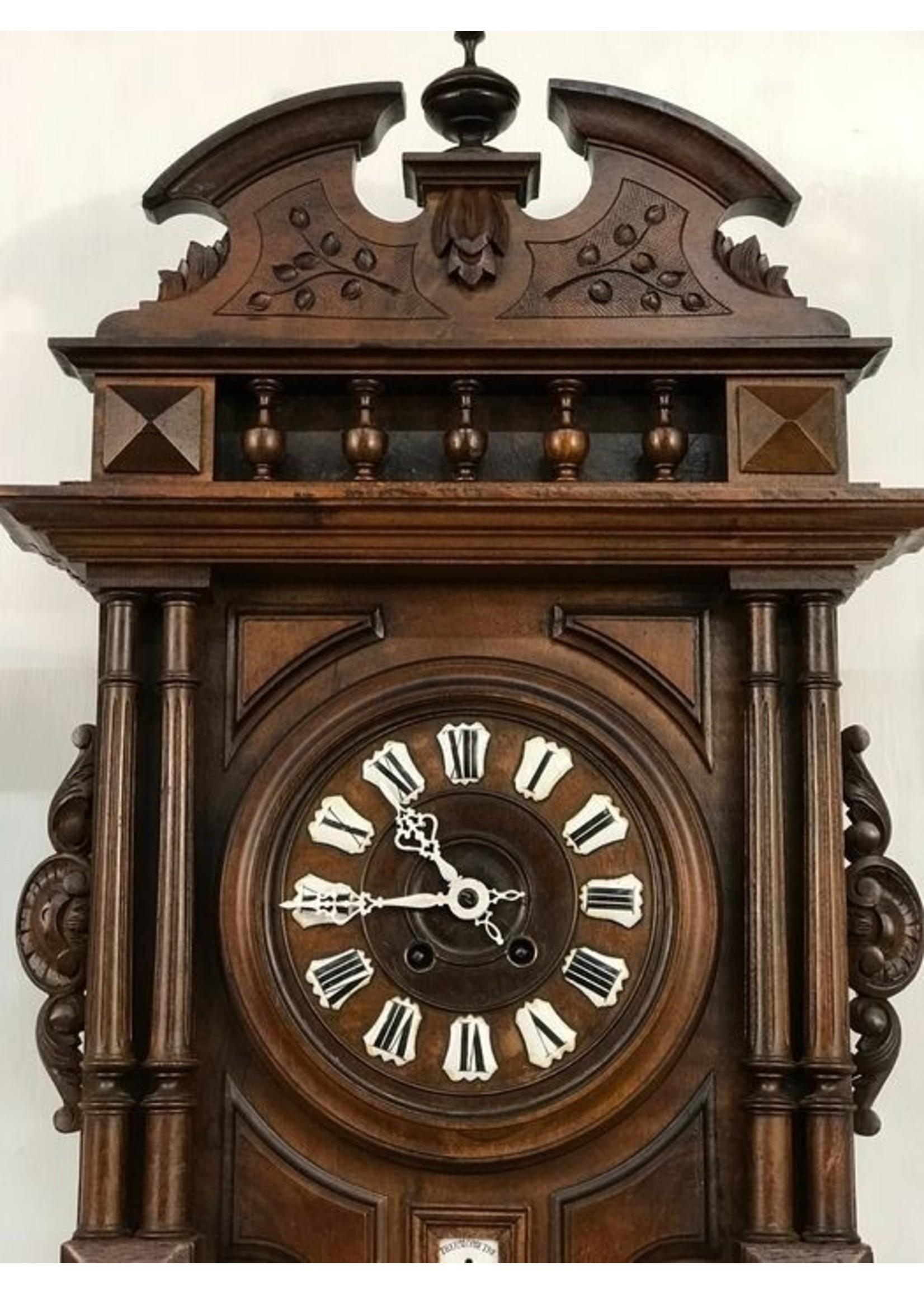 NiceTime Willem III wandklok met baro- en thermometer - 1900