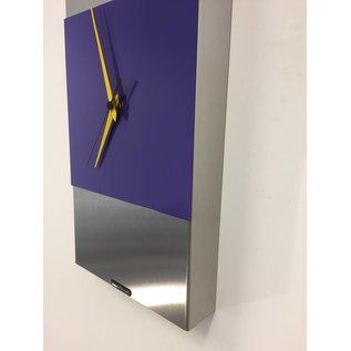 ChantalBrandO Wandklok ExtraVaganzA Purple & Yellow Pointer