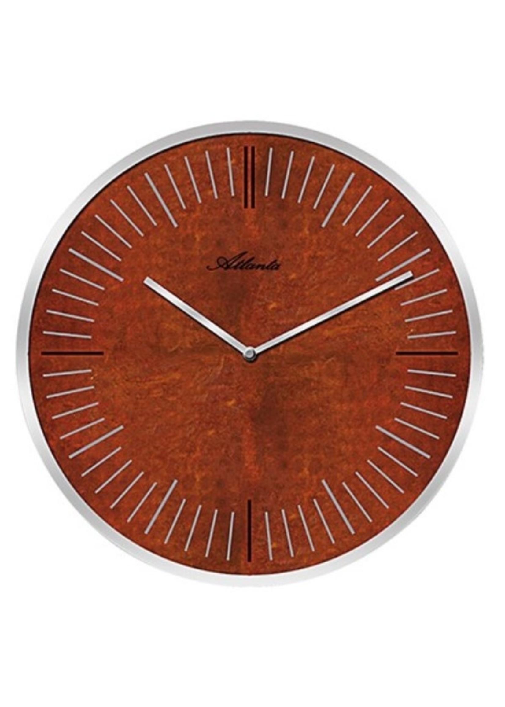Atlanta Wandklok Copper & Rust modern design