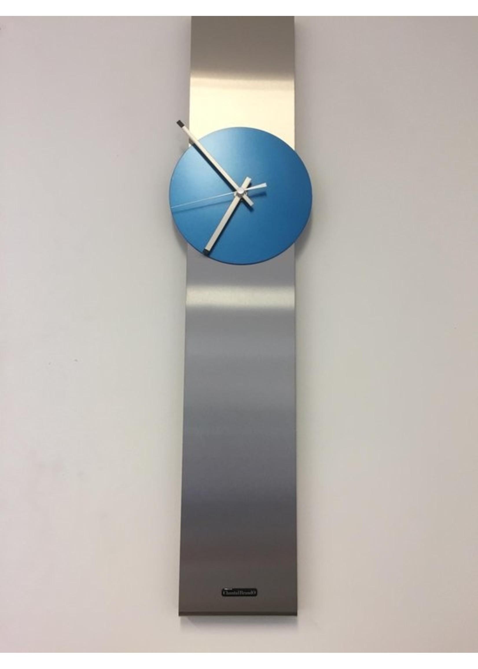 ChantalBrandO WANDKLOK OBELISK ARTIC BLUE DUTCH DESIGN