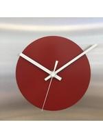 ChantalBrandO Wandklok THE SQUARE - RED CIRCLE - MODERN DUTCH DESIGN