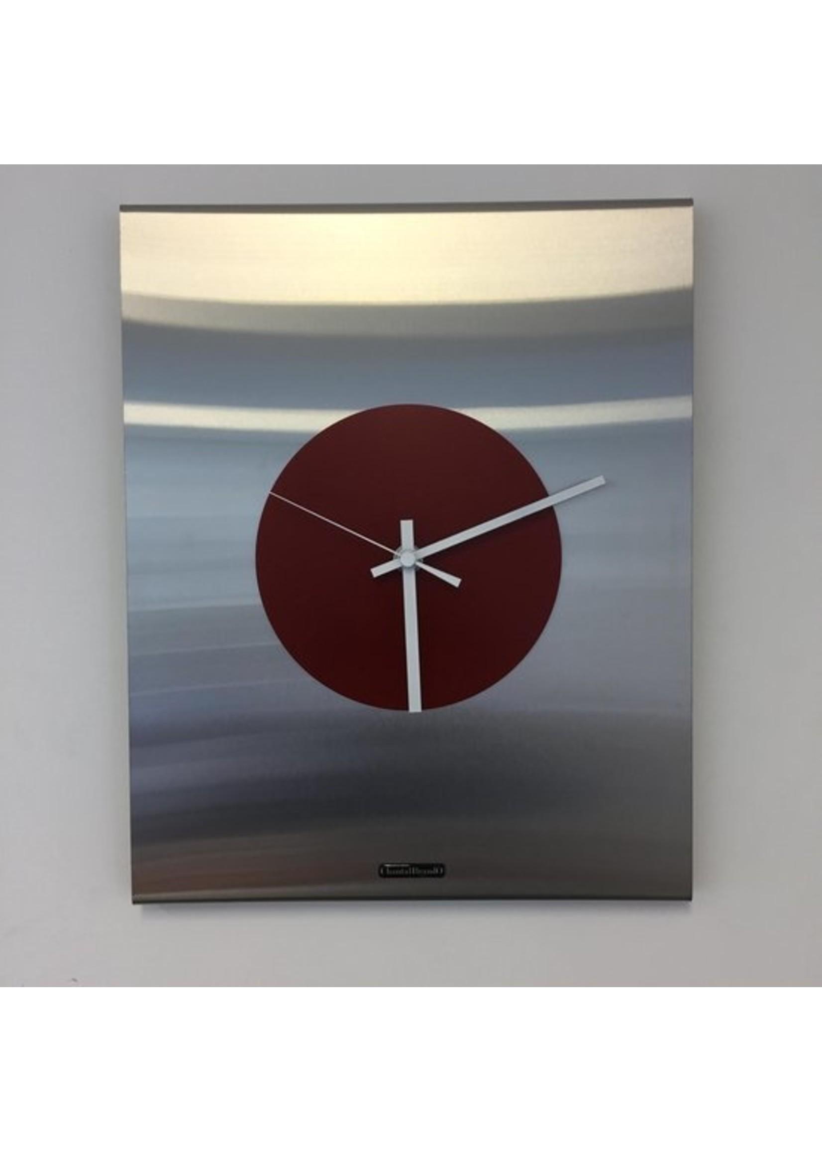 ChantalBrandO Wandklok Time Square RED Modern Design