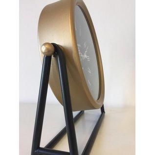NiceTime Tafelklok BLACK & GOLD INDUSTRIEEL MODERN DESIGN