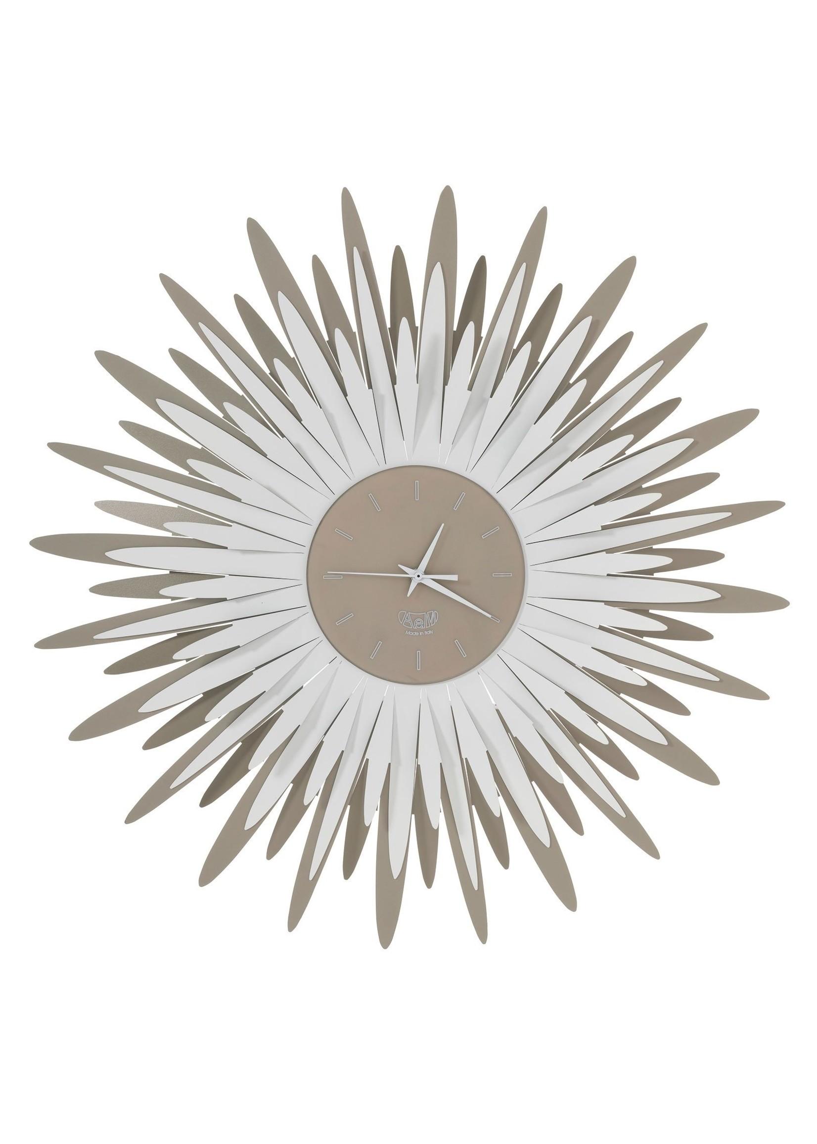 Arti & Mestieri Wandklok Italiaans Design Sting 3073 c143 bronze/ trans gold