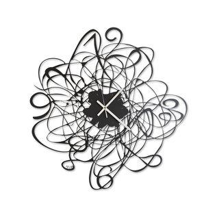 Arti & Mestieri Wandklok Italiaans Design Big Doodle Black 2443 c71 black