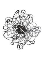 Arti & Mestieri Wandklok Italiaans Design Big Doodle Black Arti e Mestieri