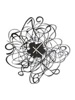 "Arti & Mestieri Wandklok MODERN ITALIAN DESIGN Big ""Doodle"" Black"