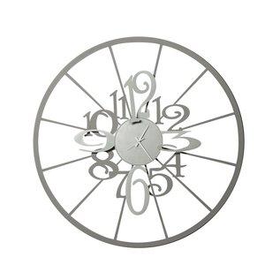 Arti & Mestieri Wandklok Italiaans Design Kalesy 3032 C47 slate/aluminium