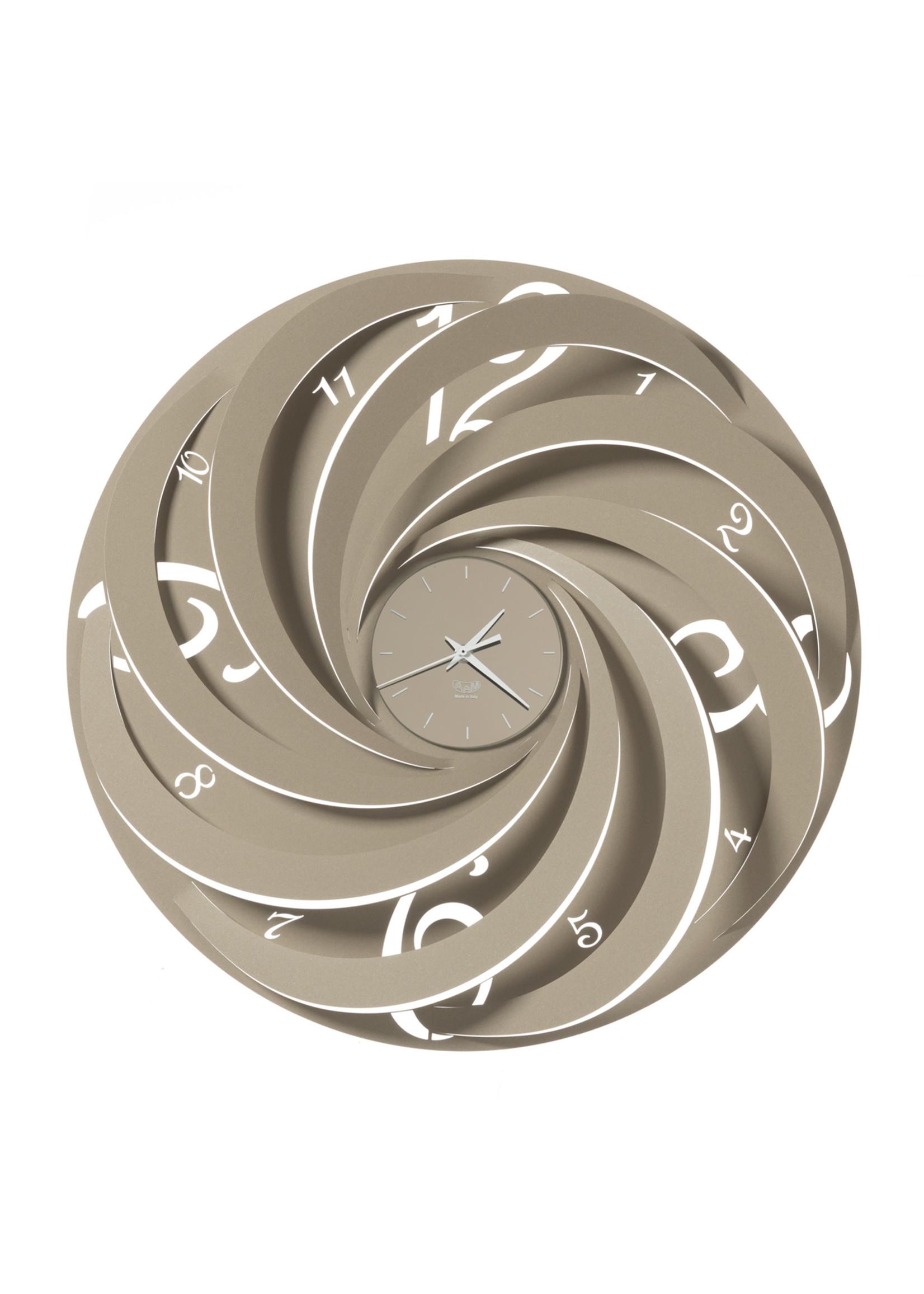 Arti & Mestieri Wandklok Italiaans Design Vortex 3572 c25 slate