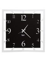 Arti & Mestieri Wandklok Italiaans Design Wandklok Italiaans Design Groot Vierkant zwart/wit - 50 cm