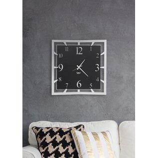 Arti & Mestieri Wandklok Italiaans Design Groot Vierkant zwart/wit - 50 cm