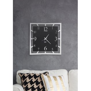 Arti & Mestieri Wandklok MODERN ITALIAN DESIGN da parete quadrato Big Soqquadro