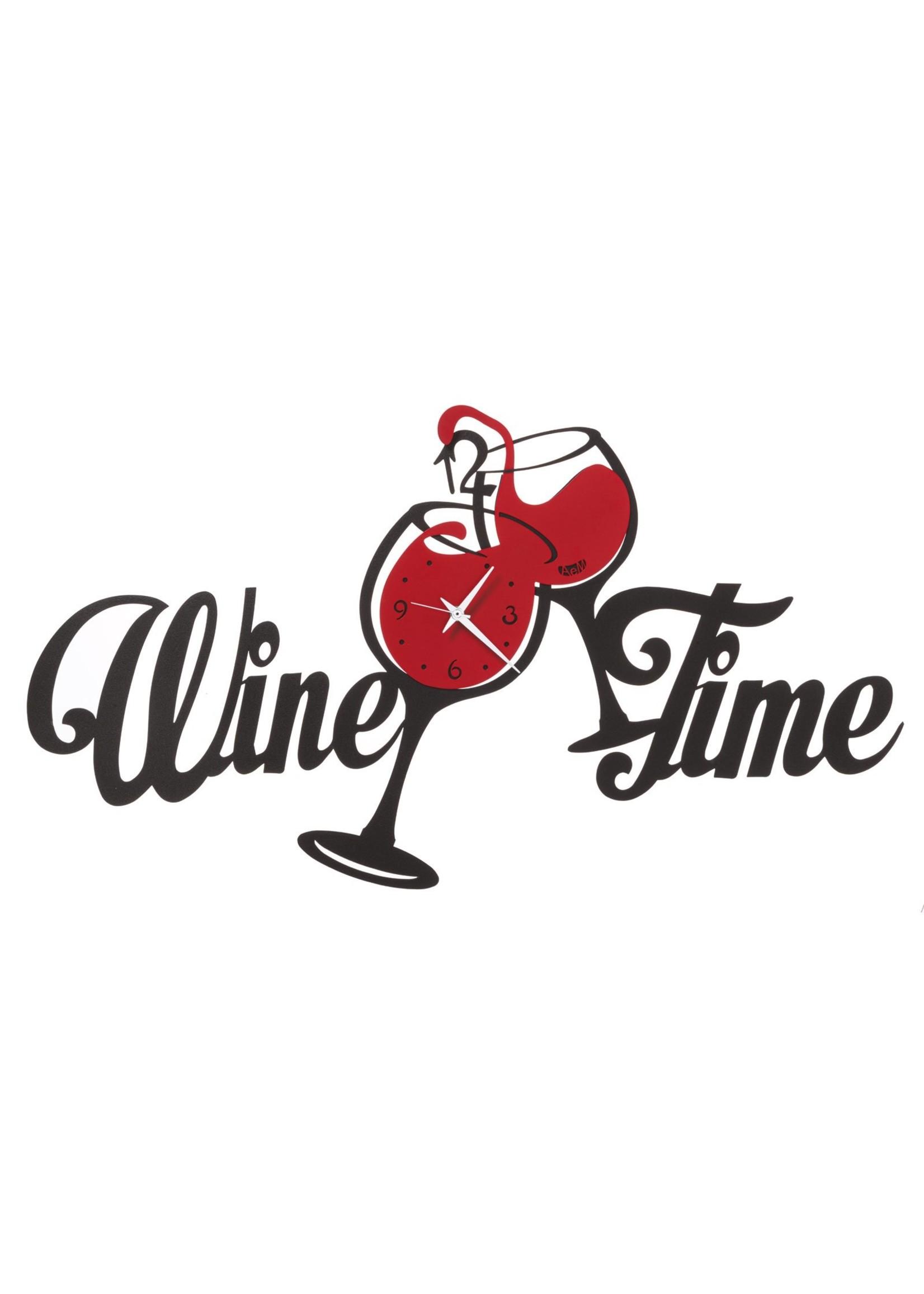 Arti & Mestieri Wandklok Italiaans Design Wine Time 3409 c192 black/red