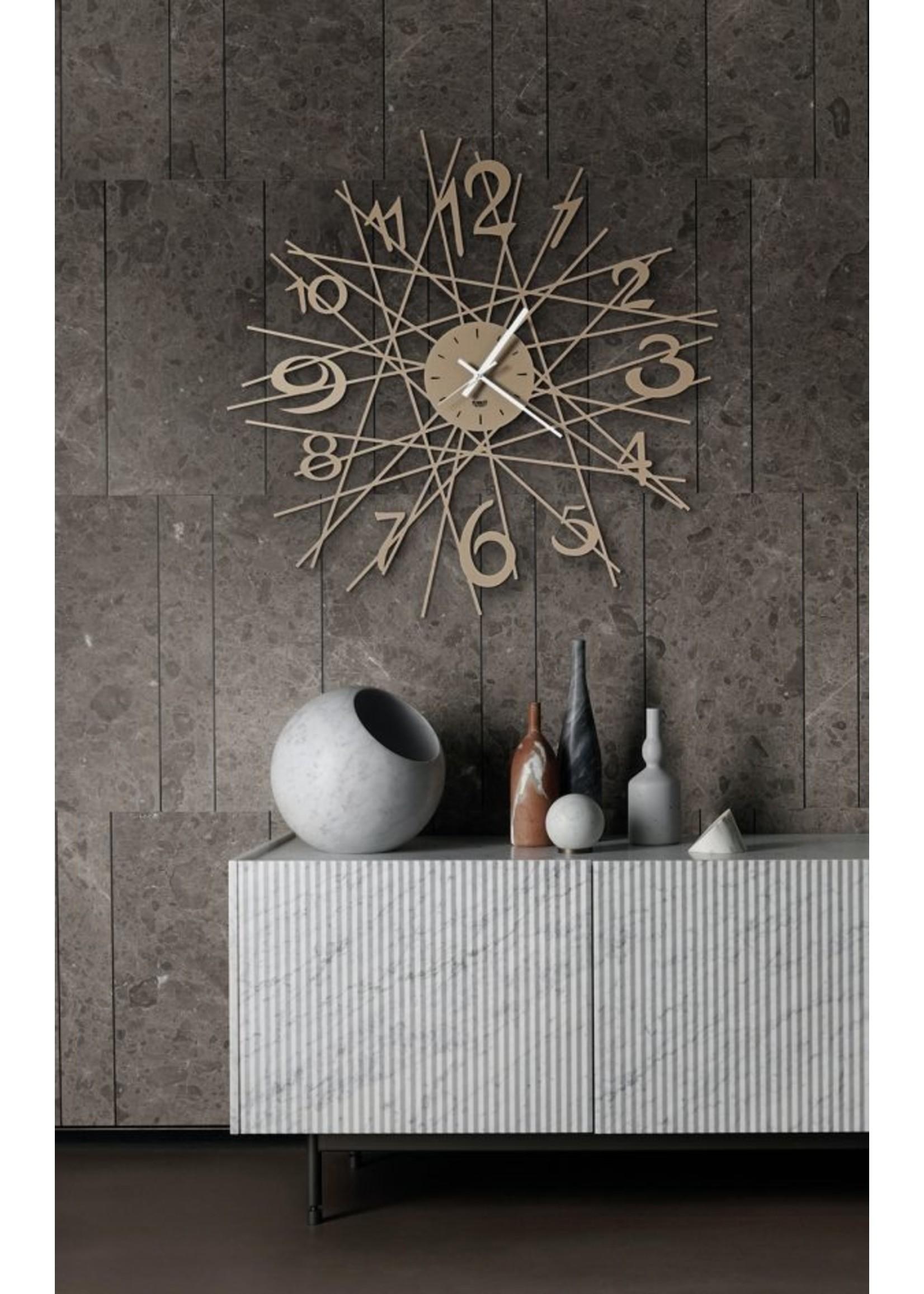 Arti & Mestieri Wandklok Italiaans Design Zig Zag 3513 c71 black