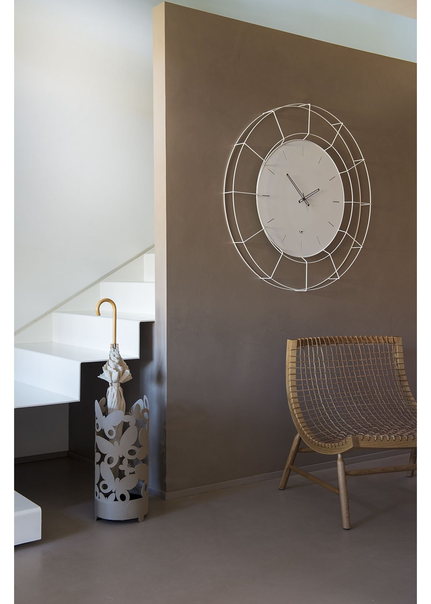 Arti & Mestieri Wandklok Italiaans Design Nudo Small 2684 c71 black