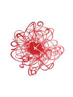 Arti & Mestieri Wandklok MODERN ITALIAN DESIGN Rote Skizze