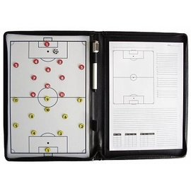 Taktisport Coachmap Best Buy:  Magnetisch, Uitwisbaar, A4 schrijfblok, Echt leer