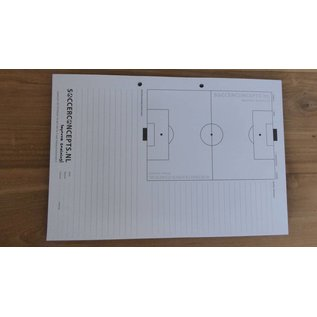 Coachblok: 50 bladig. Multifunctioneel voor trainingen en wedstrijden ontwikkeld