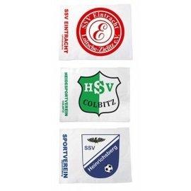 Cornervlag of Hoekvlag bedrukt met logo of verenigingsnaam - Per set van 4 stuks