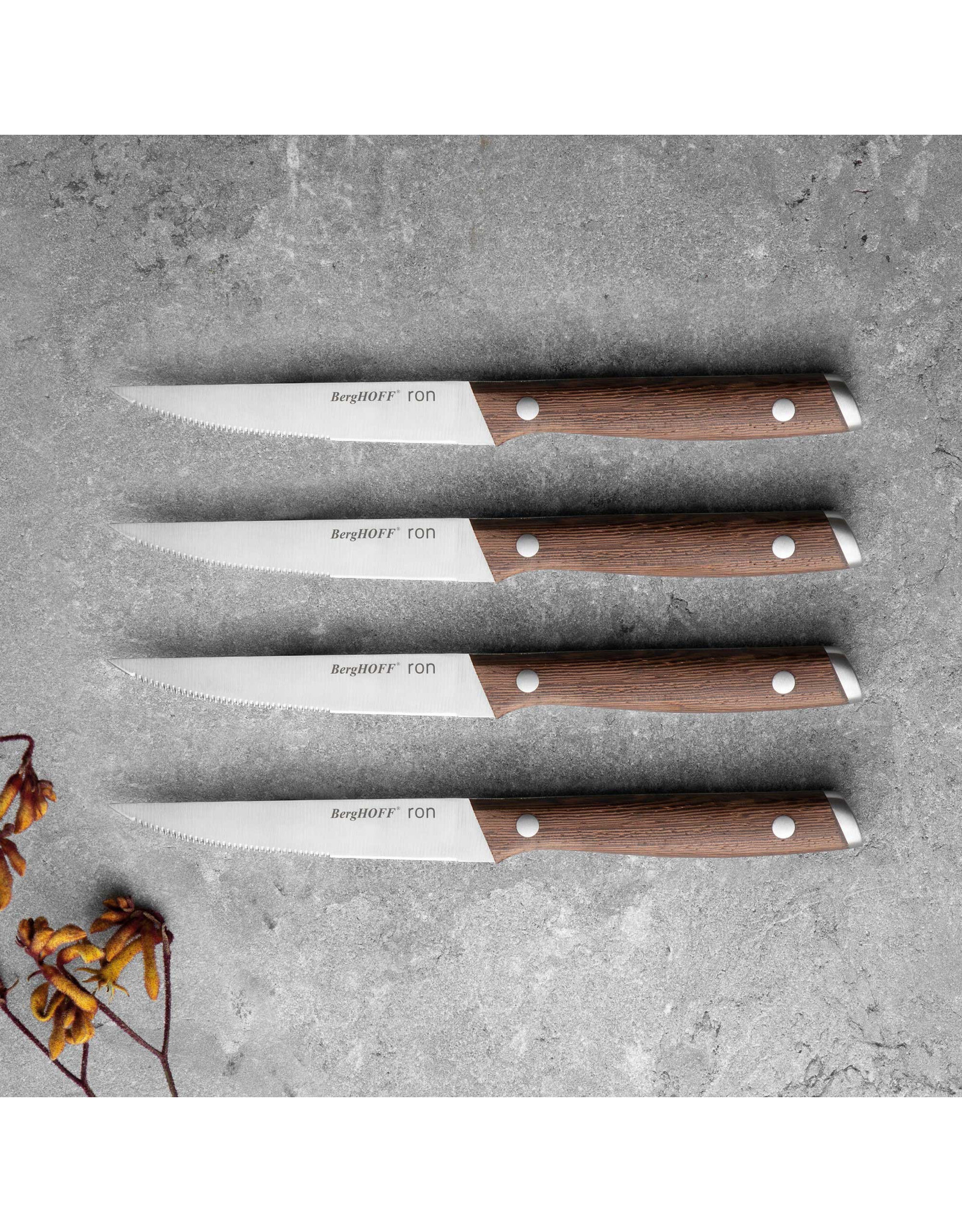 Berghoff BergHoff. Ron Line 4-delige steak messenset