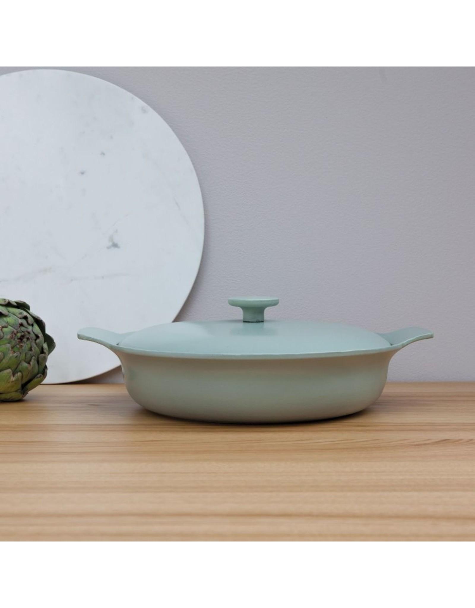 Berghoff BergHoff. Ron Line braadpan met deksel 28 cm gietijzer groen