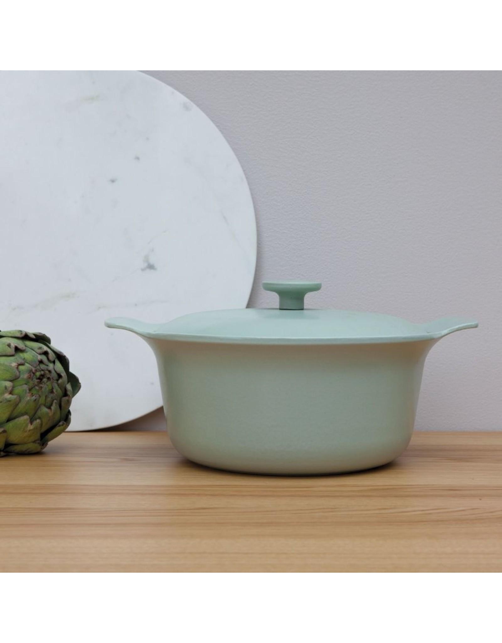 Berghoff BergHoff. Ron Line kookpot met deksel 24 cm gietijzer groen