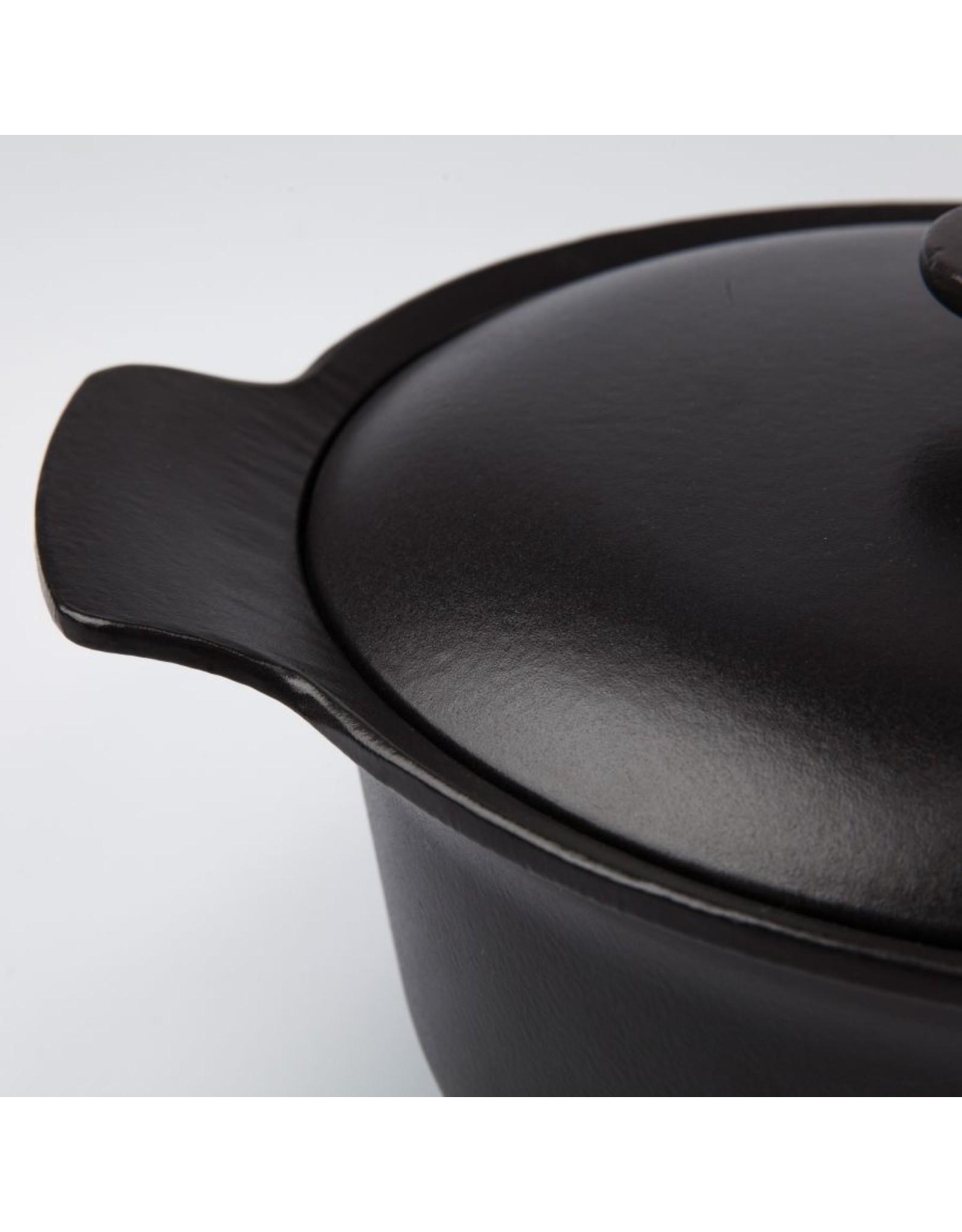 Berghoff BergHoff. Ron Line kookpot met deksel 24 cm gietijzer zwart