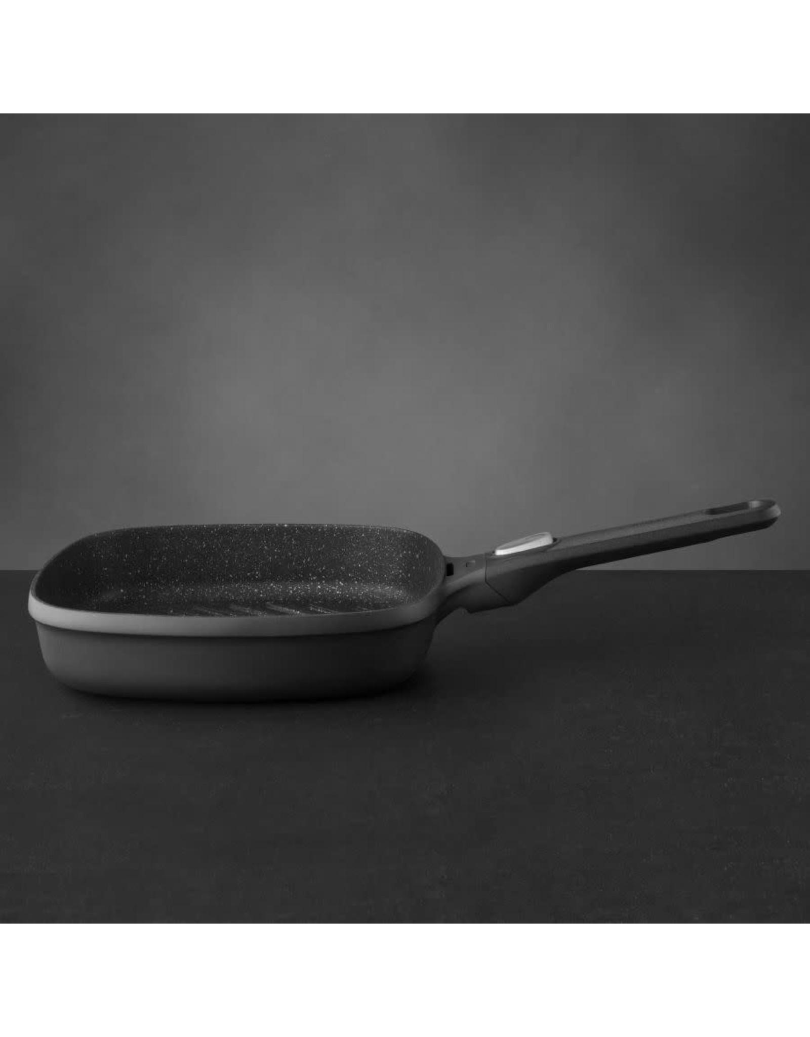 BergHoff. Gem Line grillpan 24cm met afneembare greep
