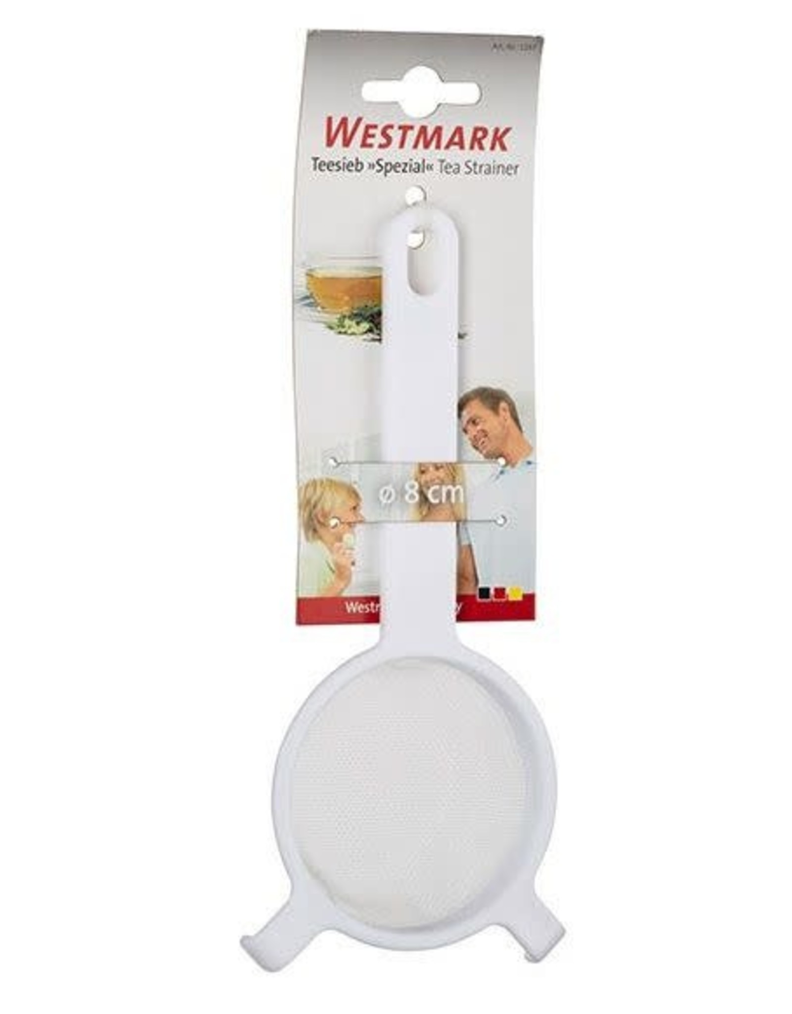 westmark Westmark theezeef ø 8 cm kunststof wit