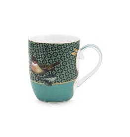 pip-studio Pip-Studio. Mug Small Winter Wonderland Bird Green 145ml
