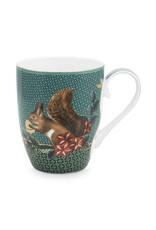 pip-studio Pip-Studio. Mug Large Winter Wonderland Squirrel Green 350ml