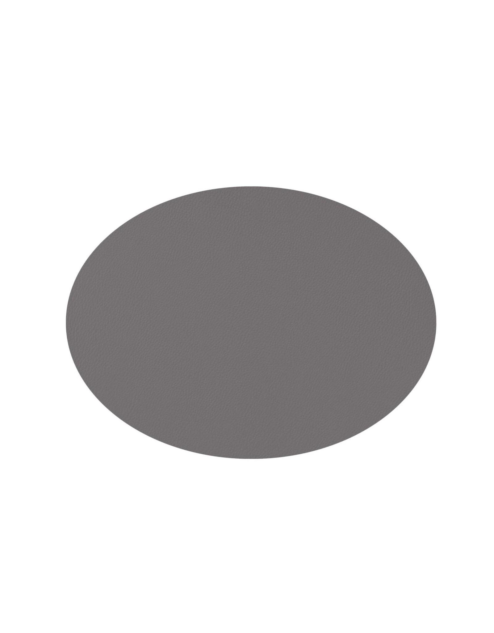 Mesapiu Mesapiu. Placemat ovaal lederlook grey