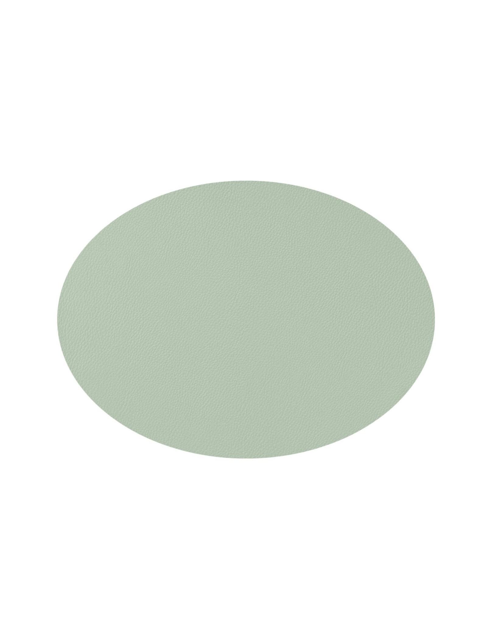 Mesapiu Mesapiu. Placemat ovaal lederlook green