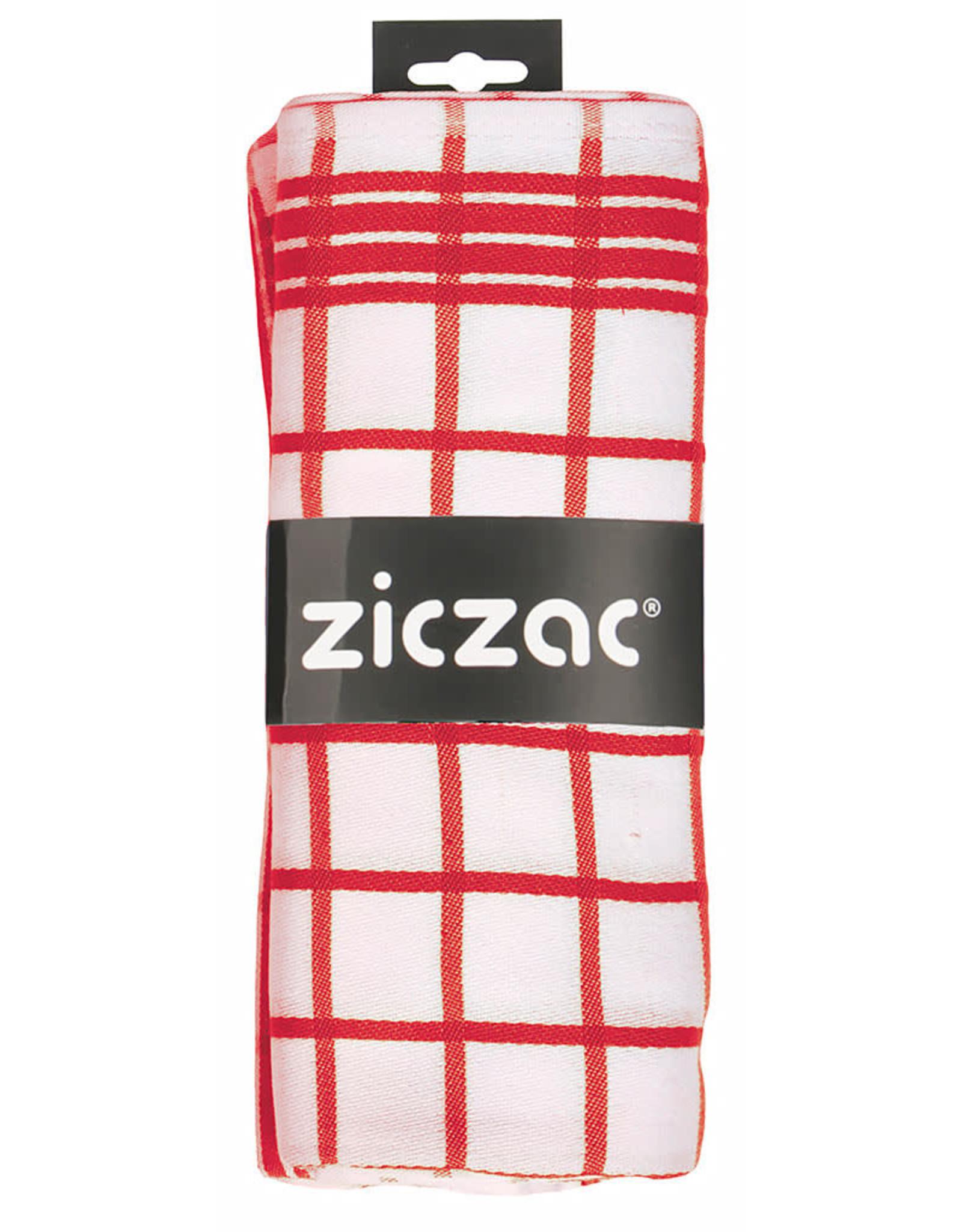 ziczac ZicZac. Set van 3 theedoeken rood
