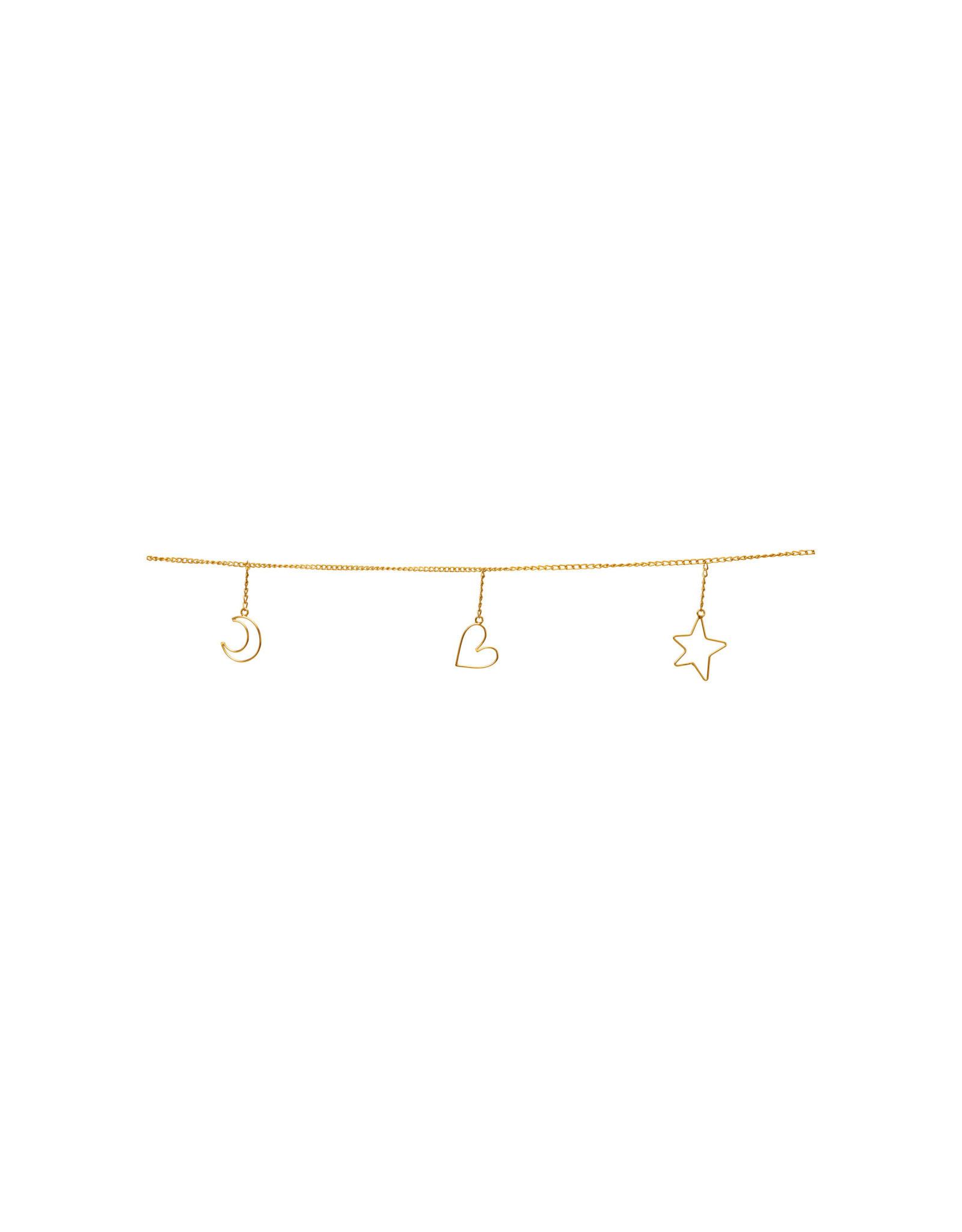 vt-wonen VT-WONEN. Garland Ornaments Metal Gold 250cm