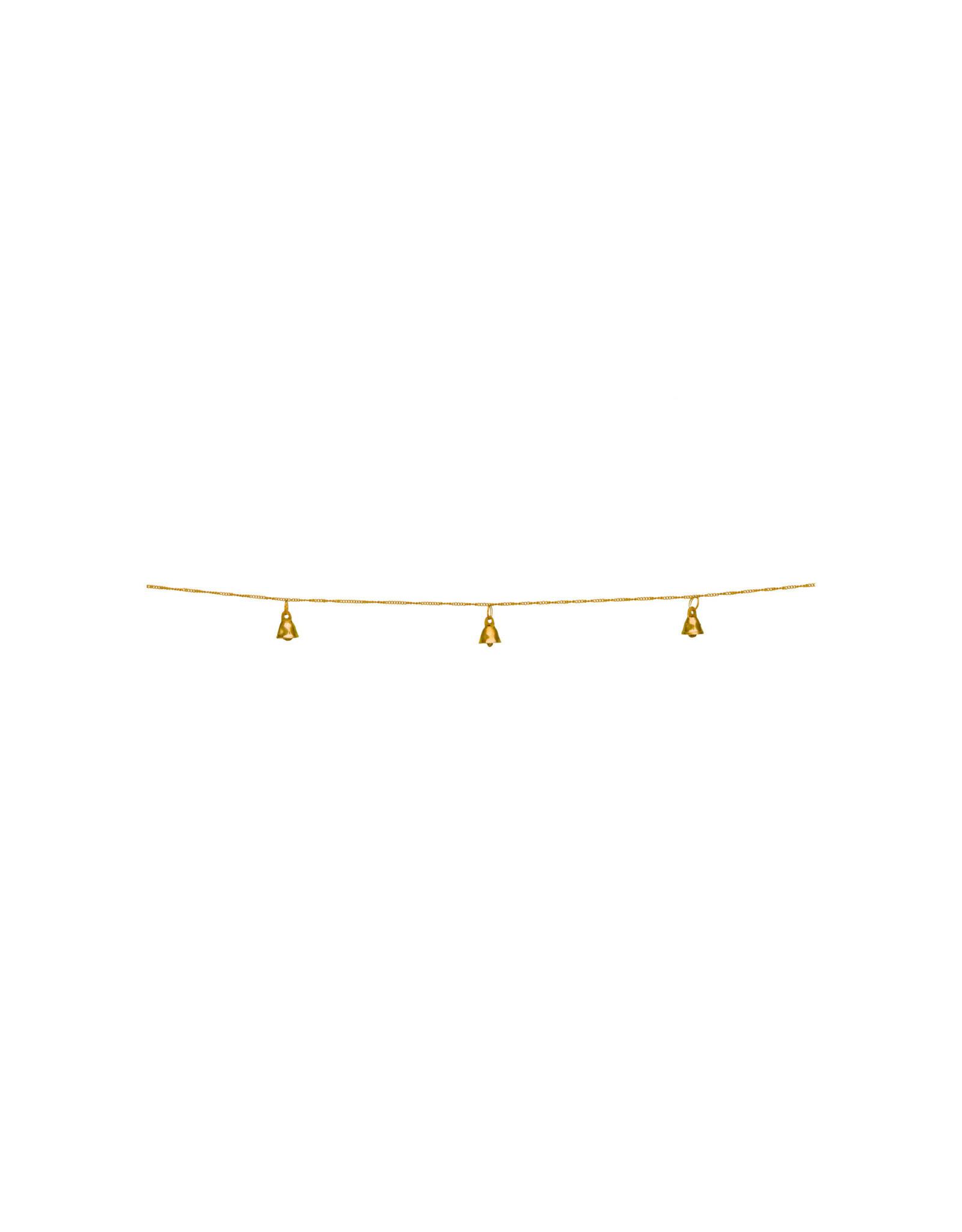 vt-wonen VT-WONEN. Garland Bells Metal Gold 250cm