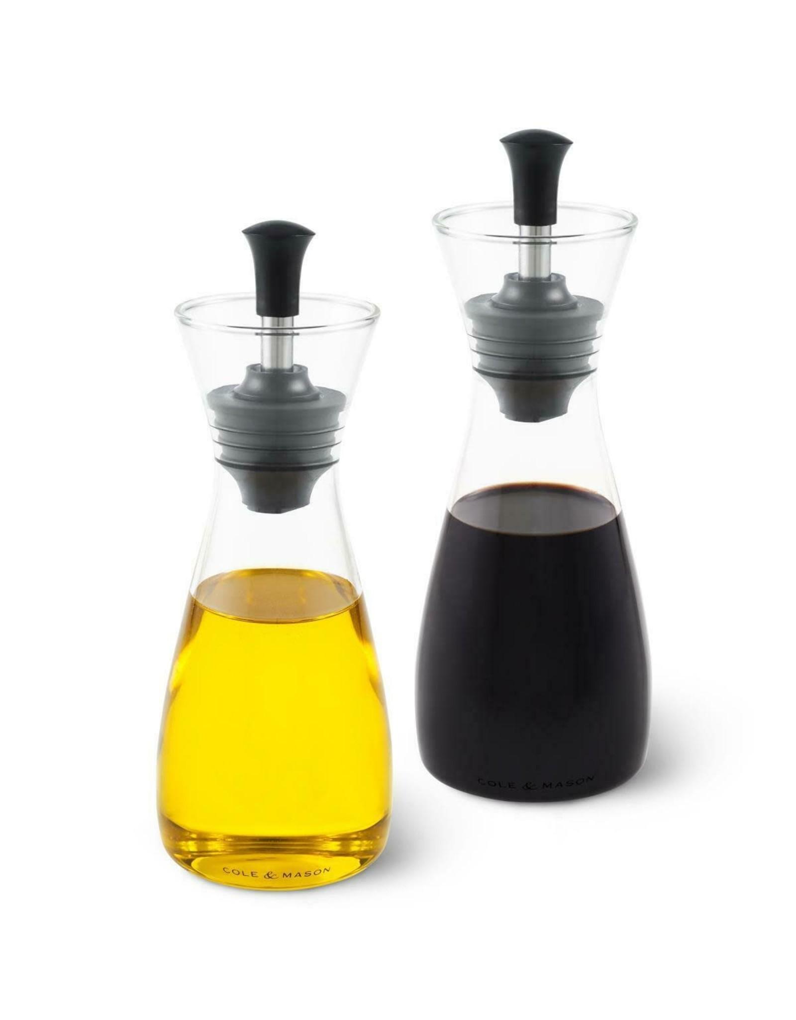 cole & mason Cole & Mason. Set olie-en azijnschenker transparant