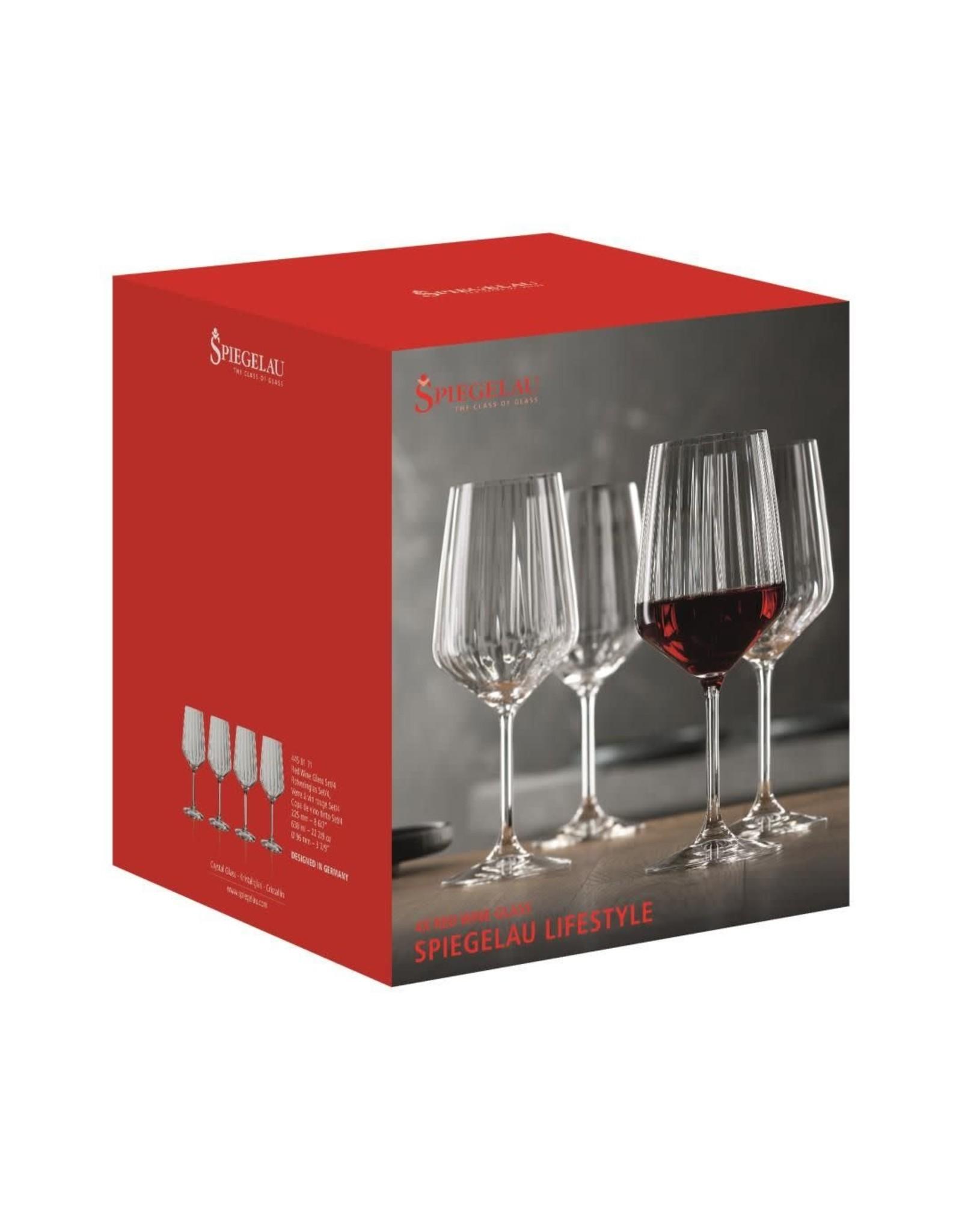 spiegelau Spiegelau. Rodewijnglas 'Lifestyle', 630 ml. Set van 4 stuks.