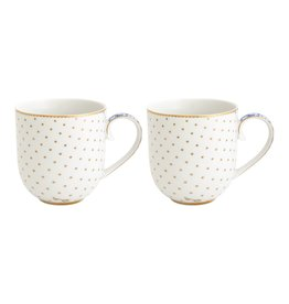 pip-studio Pip-studio. Set/2 Mugs Small Royal White 260ml