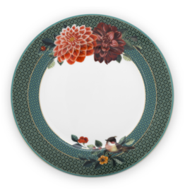 pip-studio Pip-Studio. Plate Winter Wonderland Big Flower Green 21cm