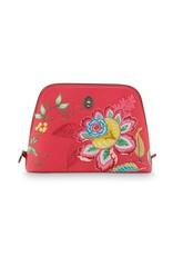 pip-studio Pip studio. Cosmetic Bag Triangle Large Jambo Flower Red 29/21x20.5x9.5cm