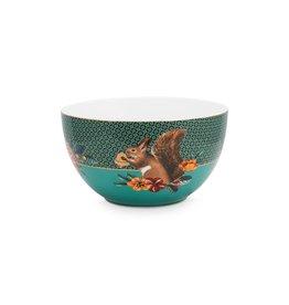 pip-studio Pip-Studio. Bowl Winter Wonderland Squirrel Green 18cm