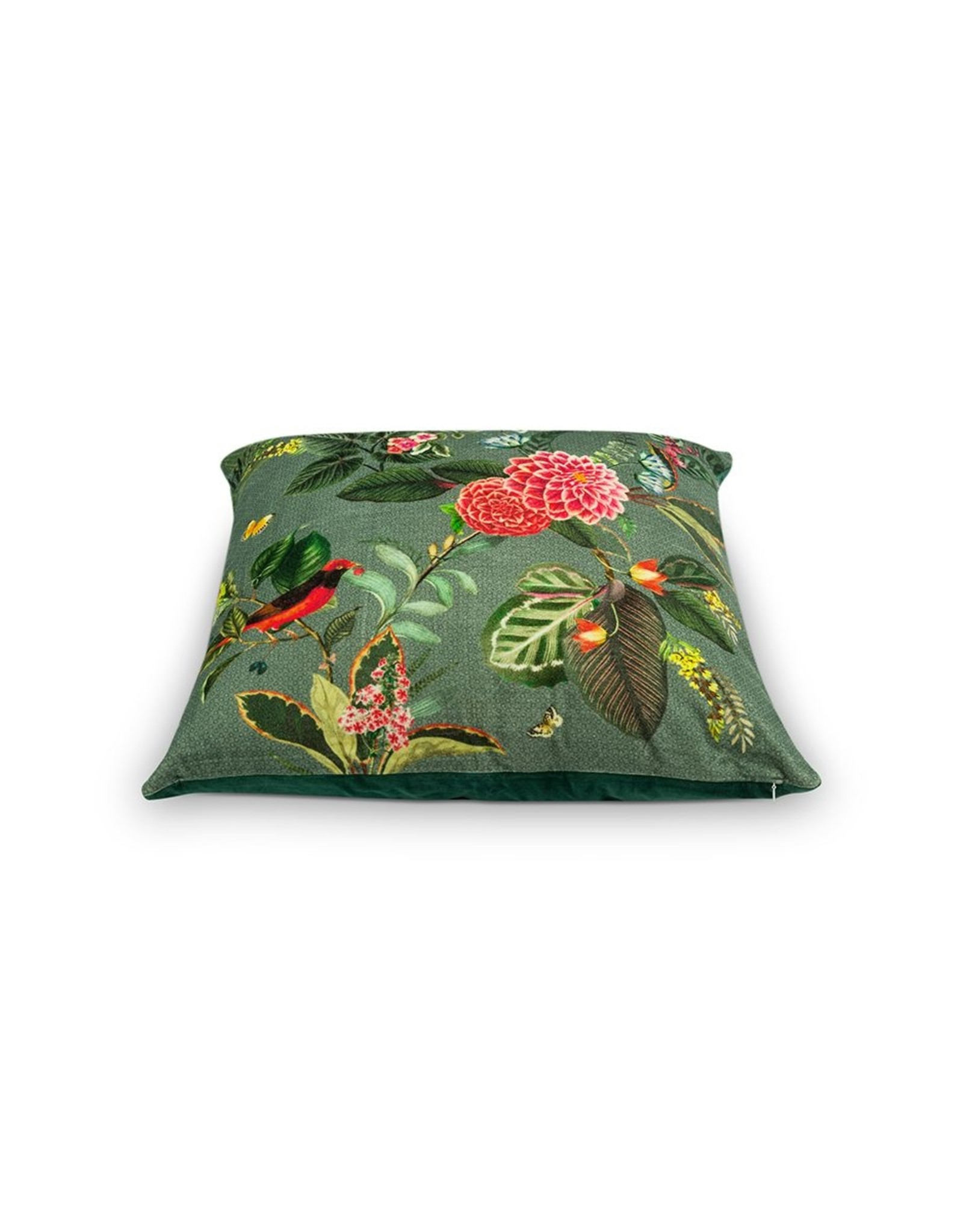 pip-studio Pip-Studio. Cushion Floris Green 60x60cm