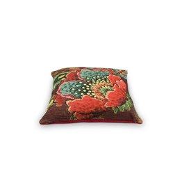 pip-studio Pip-Studio.  Cushion Poppy Stitch Burgundy 40x40cm